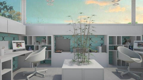 modern cubicle - Office  - by miadesign