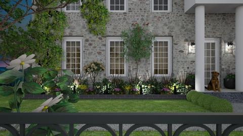 English Manor - Garden  - by GraceKathryn
