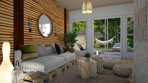 Bamboo Interior - Living room - by klmmorales