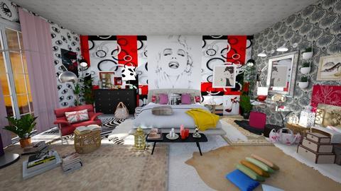 maximalist bedroom - Bedroom - by enrica75