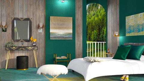 M_ Green lake - Bedroom - by milyca8