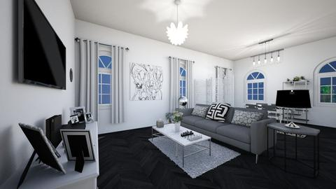 Grey Chic - Modern - Living room  - by Katreena Rose