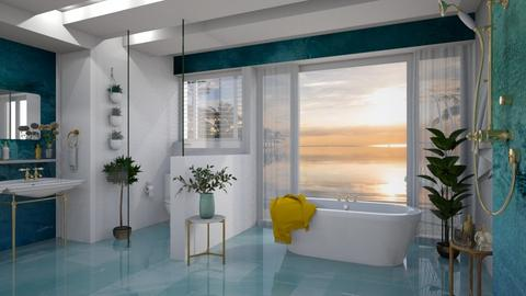 Turquoise Bathroom - Bathroom - by Rebel Peony