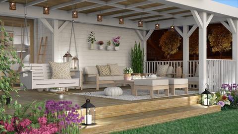 Porch - Garden  - by liliescarraman10