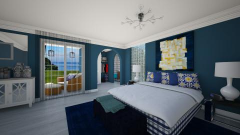 Blue Room - Modern - Bedroom  - by Joao M Palla