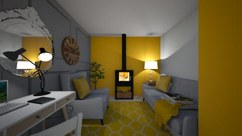 Flat Living Room - Living room  - by KylaTH