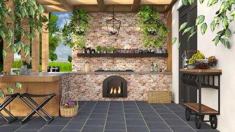 Outdoor kitchen - Garden  - by Lizzy0715
