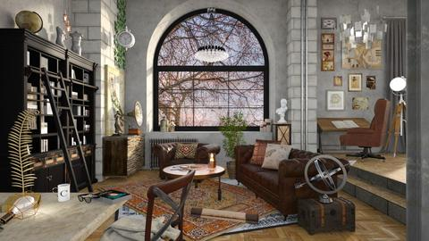 The Art Collector - Vintage - Living room  - by dj_hussey