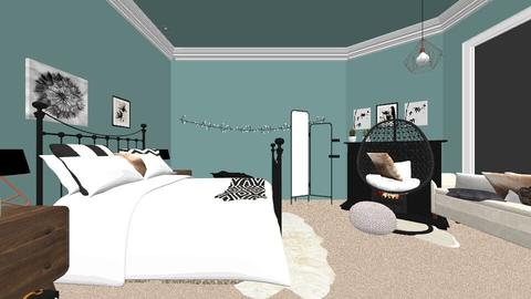 My Bedroom Plan - Retro - Bedroom  - by Lauren05Thompson