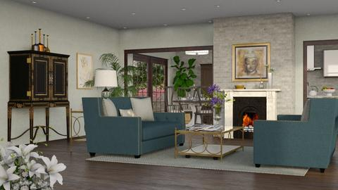 Turquoise II - Eclectic - Living room - by Theadora
