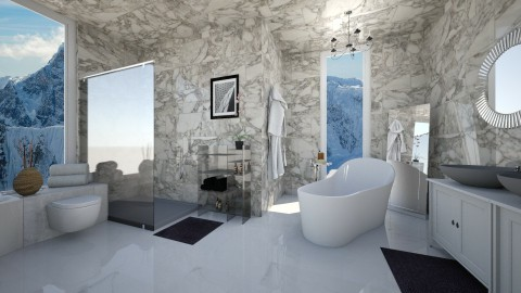 Marble paradise - Bathroom  - by CarolinaB