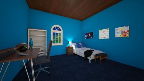 Blue Neighbourhood - Bedroom - by Susana Diaz