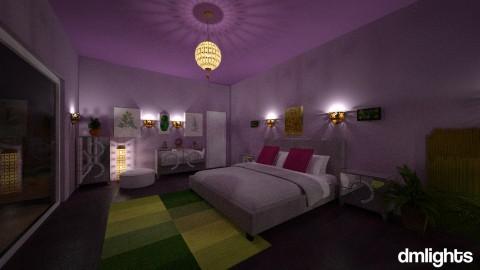 Purple and Green bedroomn - Modern - Bedroom - by Perta
