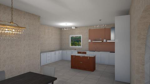 Kitchen and Dining combo - Modern - Kitchen  - by alonatech_2nd
