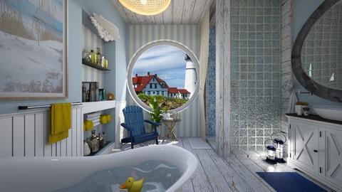nautical bath - Rustic - Bathroom  - by donella