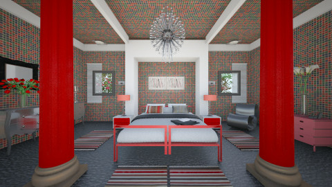 RedRed - Eclectic - Bedroom  - by Saj Trinaest