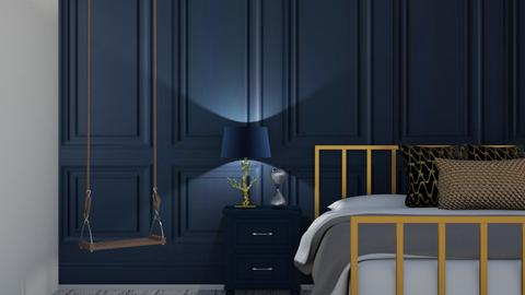 Navy and Gold - Bedroom  - by Ash03