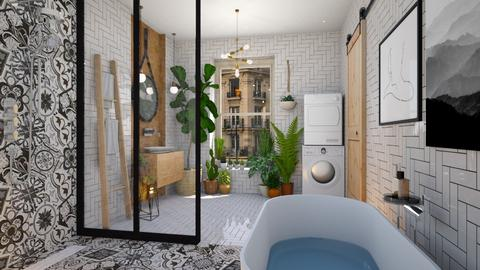 Wood and Tiles - Bathroom - by JennieT8623