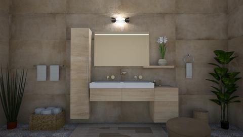 Earth Tones - Modern - Bathroom  - by Irishrose58
