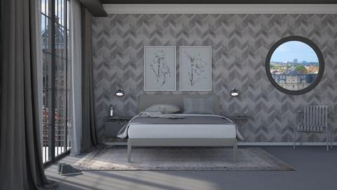 Greyscale - Minimal - Bedroom - by HenkRetro1960