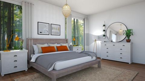 modern boho bedroom - Modern - Bedroom - by tiffanyphamm