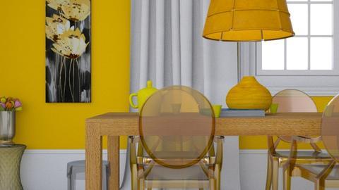 Minimal yellow dining - Minimal - Dining room  - by HenkRetro1960