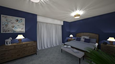 blue bedroom - by brianclough