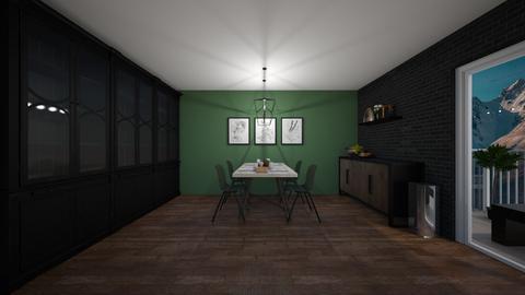 Green dining - Dining room  - by Noa Jones