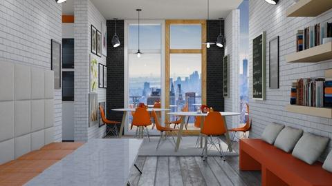 orange and whte - by martinini
