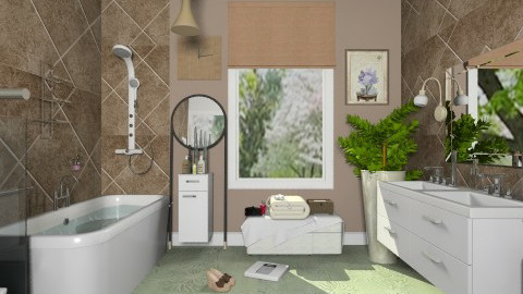 Brown and green - Modern - Bathroom  - by milyca8