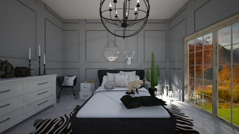 black and white - Bedroom - by T I A N A
