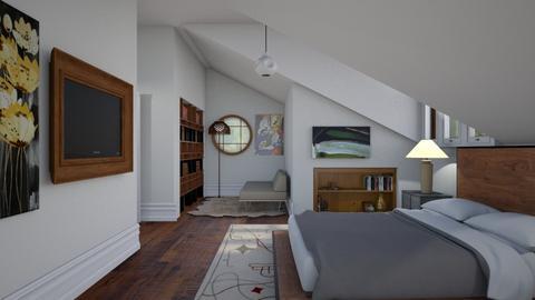 Sloped bedroom 2 - Modern - Bedroom  - by augustmoon