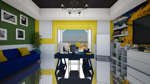 Blue Green Yellow office - Glamour - Office  - by kristenaK