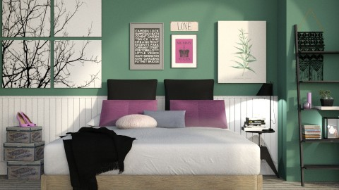 Purple and Green - Modern - Bedroom  - by deleted_1587966089_ArcticMoon