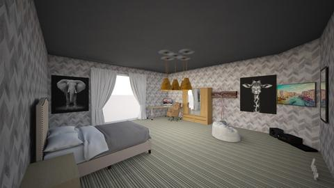 Hugo s Room - Vintage - Bedroom  - by Hugotorres89