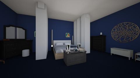 Blue Bedroom - Bedroom - by thephilosophicaljew
