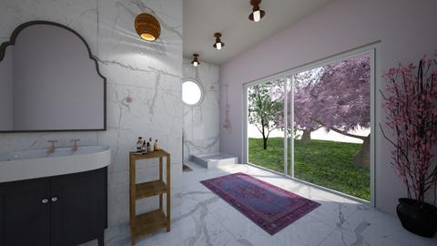 Cherry Blossom Bathroom - Bathroom  - by Mollymollyhaag1