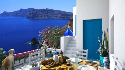 Design 80 Santorini Hillside Patio - Garden  - by Daisy320
