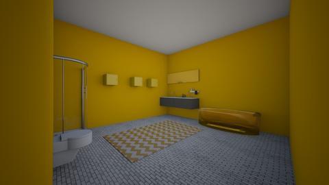 yellow bathroom - Bathroom  - by brittanyburton