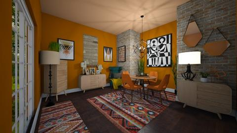 Tribal Patterns - Dining room  - by Jodie Scalf