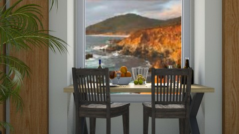 Seaside Lunch - Rustic - Dining room  - by millerfam