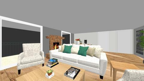 Japandi Living Room - Rustic - Living room  - by Iirini