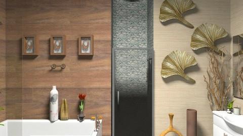 bathroom wood3 - Bathroom  - by sacikae