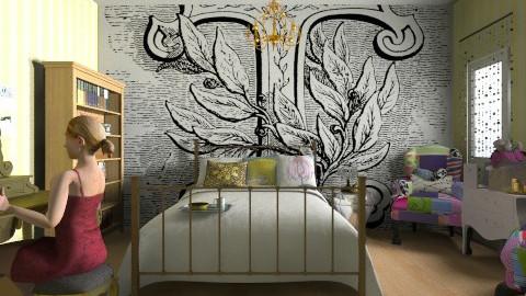 T - Glamour - Bedroom - by langerreka