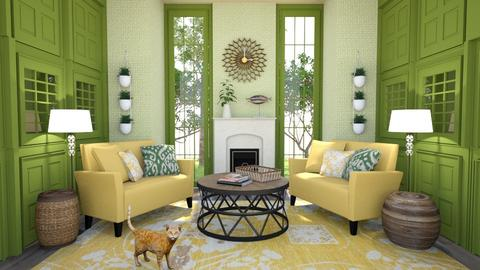 Sunflower Room - Living room  - by amyskouson