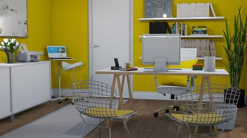 Yellow office - Office  - by Tuija