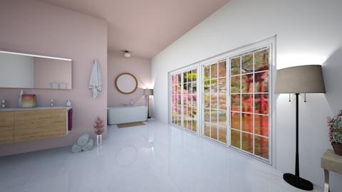 Cherry Blossom Bathroom - Bathroom  - by slothsarethebest