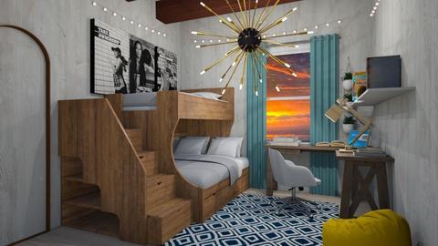 Dorm Room - Classic - Bedroom - by XqveenXlove