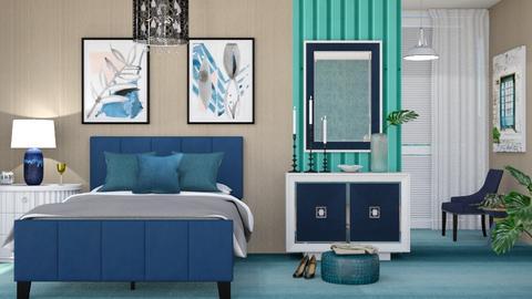M_ Teal_blue - Bedroom - by milyca8