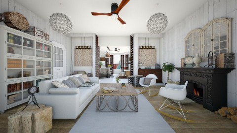 Classic Dutch House - Rustic - Living room  - by SimonRoshana